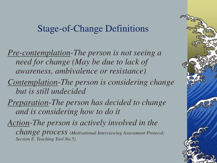 Stage-of-Change Definitions