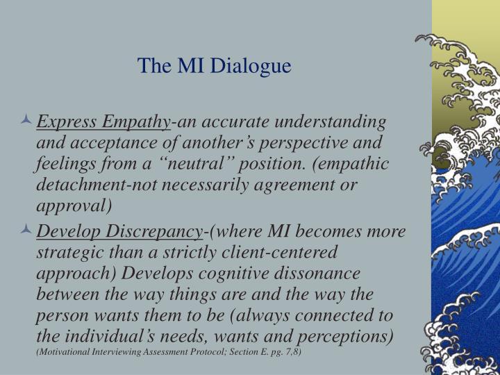The MI Dialogue