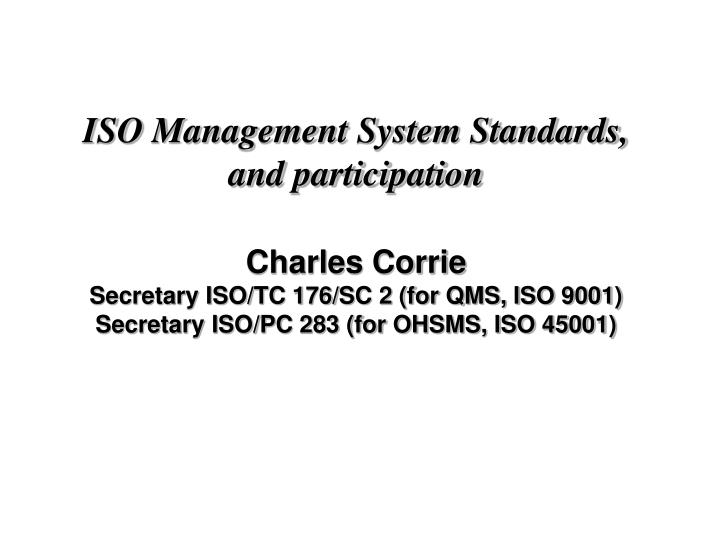ISO Management System Standards,