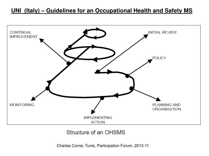 UNI  (Italy) – Guidelines for an Occupational Health and Safety MS
