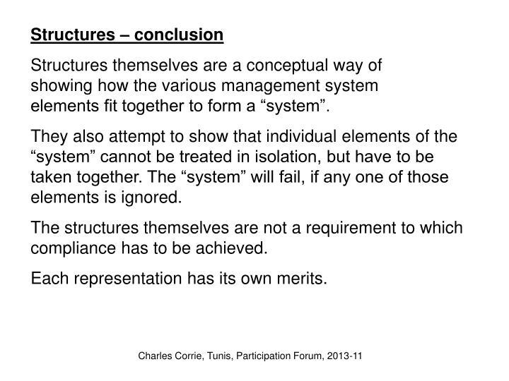 Structures – conclusion