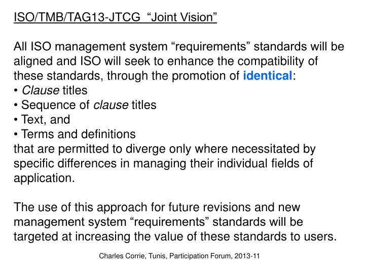 """ISO/TMB/TAG13-JTCG  """""""