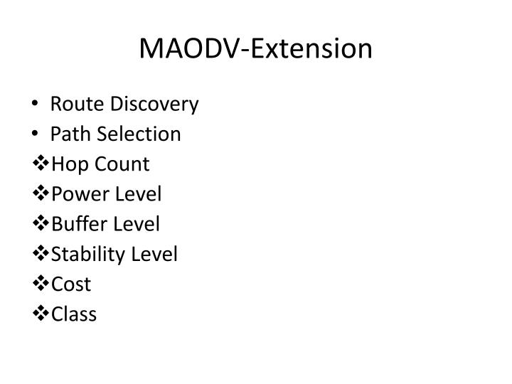 MAODV-Extension
