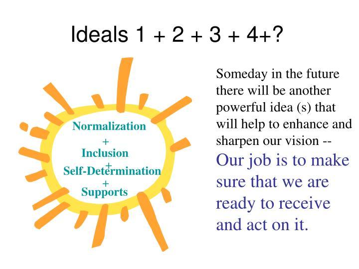 Ideals 1 + 2 + 3 + 4+?
