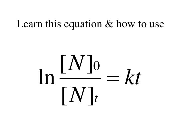 Learn this equation & how to use