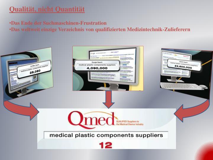 Qualität, nicht Quantität