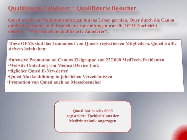 Qualifizierte Zulieferer = Qualifizierte Besucher