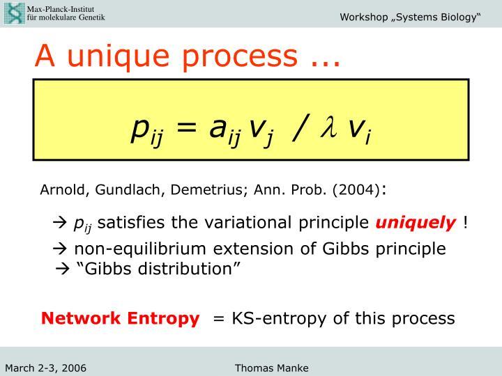 A unique process ...