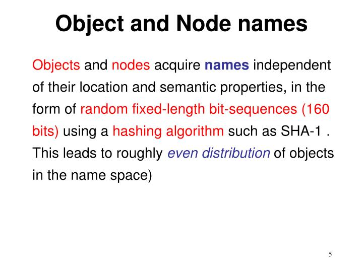 Object and Node names