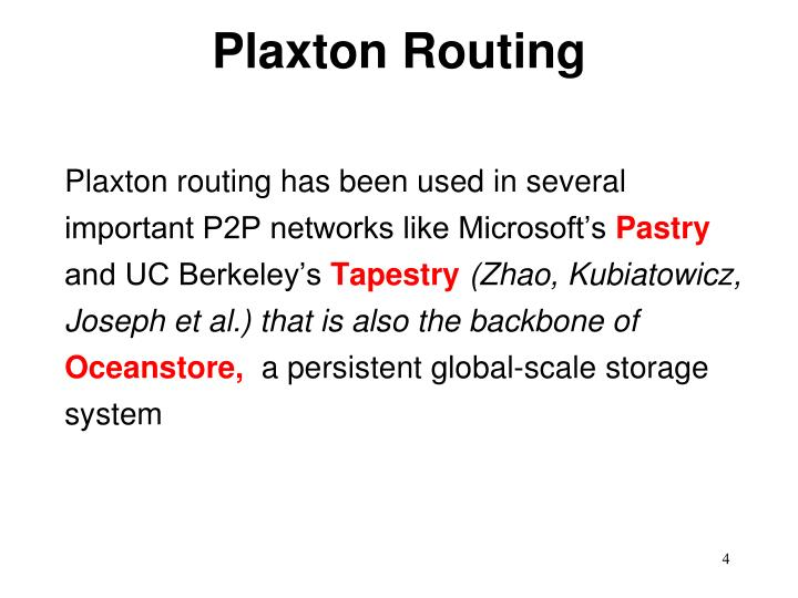 Plaxton Routing