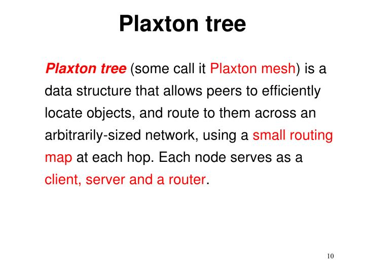 Plaxton tree