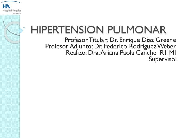 HIPERTENSION PULMONAR