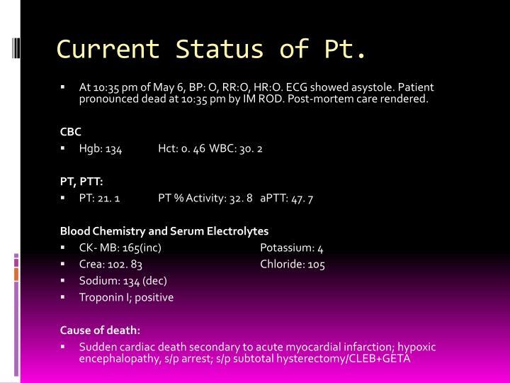 Current Status of Pt.