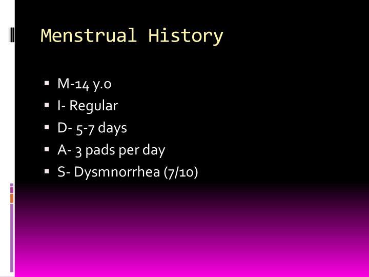 Menstrual History