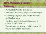 hire purchase finance meaning