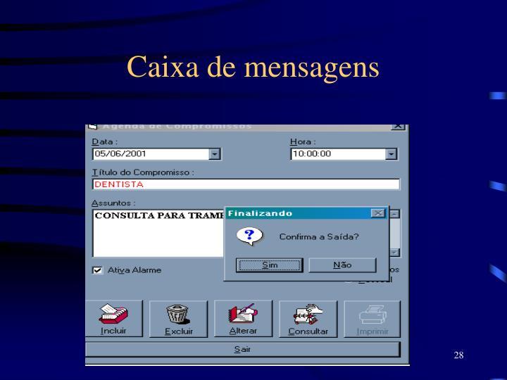 Caixa de mensagens