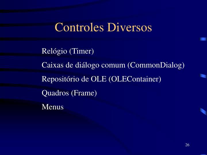 Controles Diversos