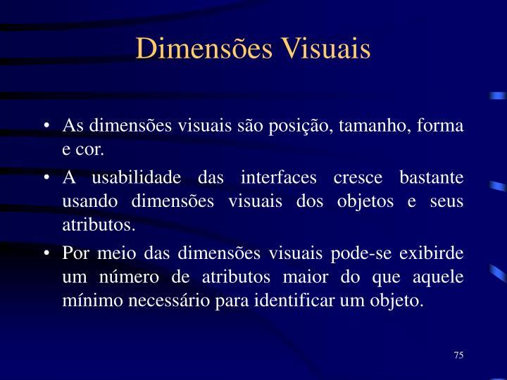 Dimensões Visuais