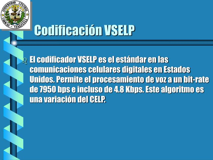 Codificación VSELP