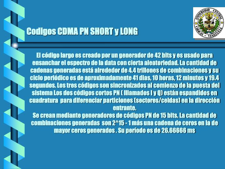 Codigos CDMA PN SHORT y LONG