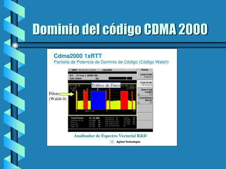 Dominio del código CDMA 2000