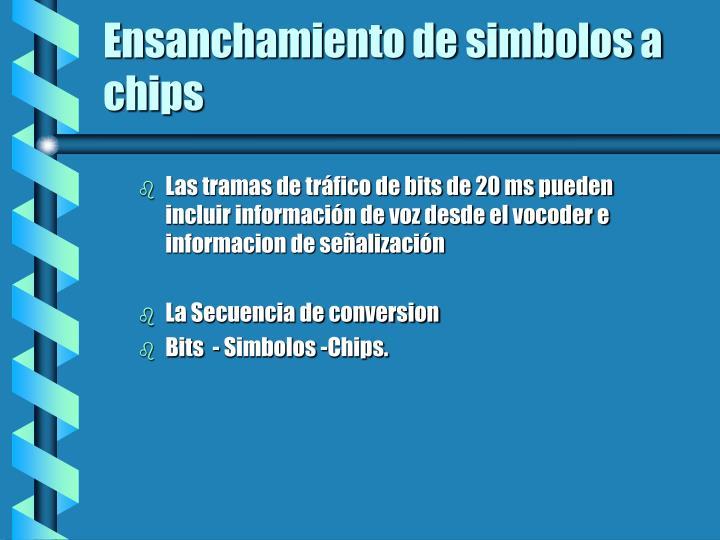 Ensanchamiento de simbolos a chips