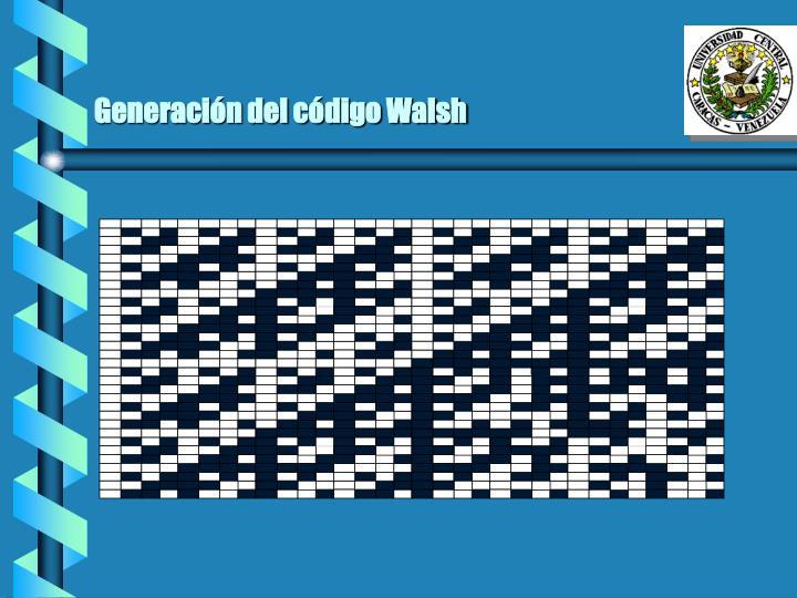 Generación del código Walsh