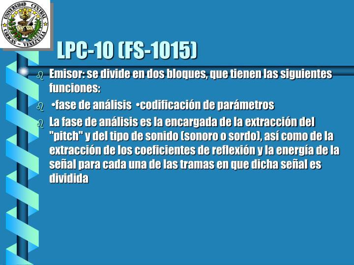 LPC-10 (FS-1015)