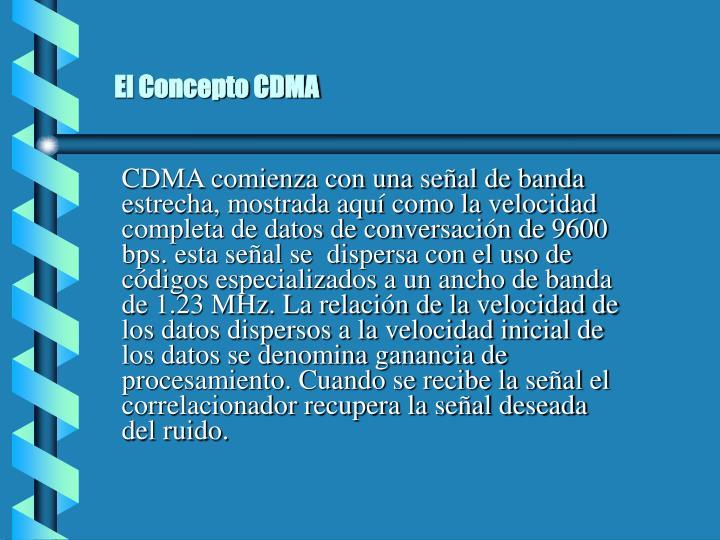 El Concepto CDMA