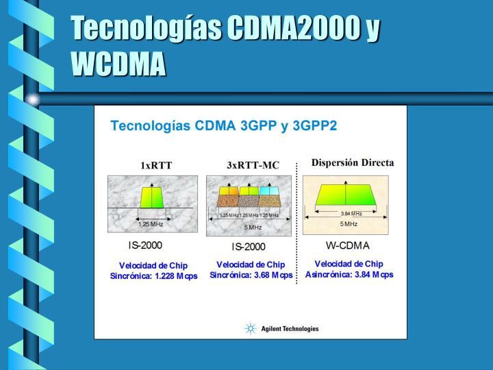 Tecnologías CDMA2000 y WCDMA