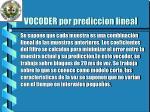 vocoder por prediccion lineal1