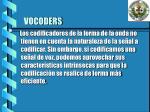 vocoders