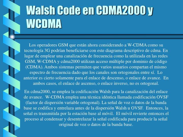 Walsh Code en CDMA2000 y WCDMA