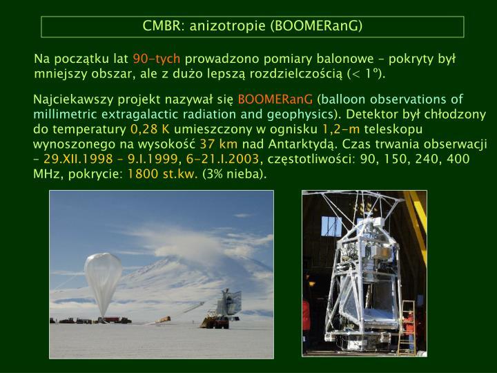 CMBR: anizotropie (BOOMERanG)