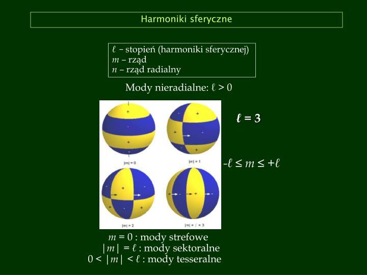Harmoniki sferyczne