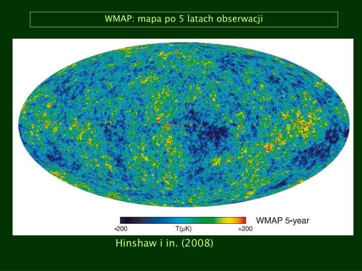 WMAP: mapa po 5 latach obserwacji