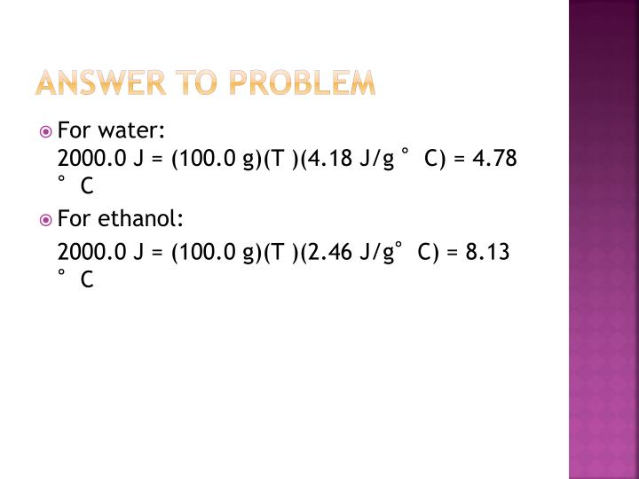 Answer to Problem