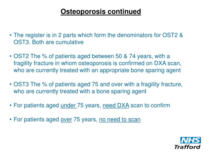 Osteoporosis continued