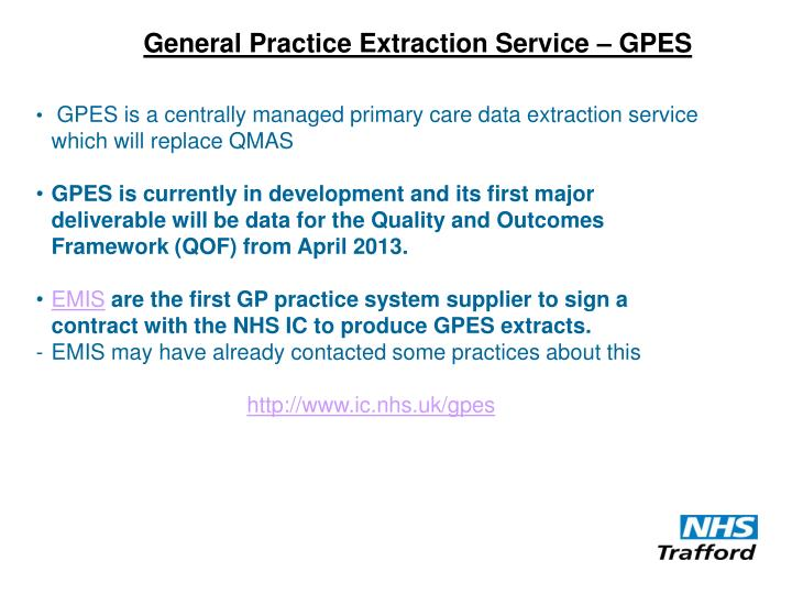 General Practice Extraction Service – GPES