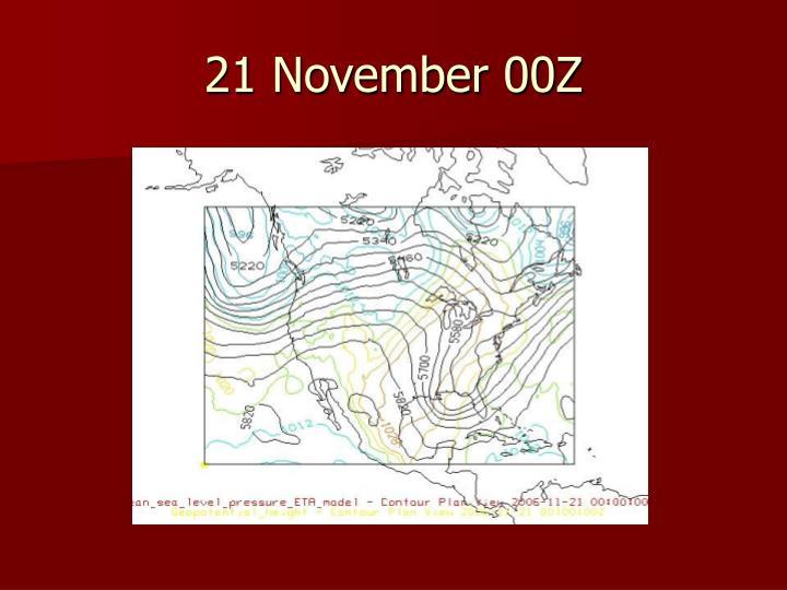 21 November 00Z