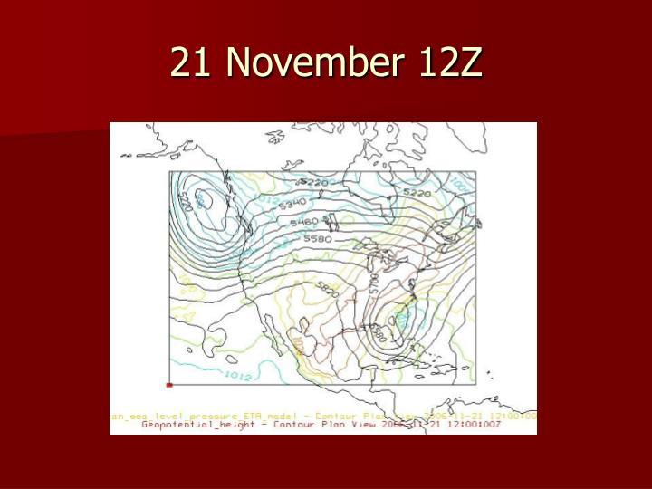 21 November 12Z
