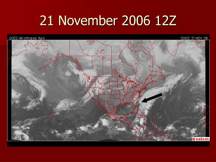 21 November 2006 12Z