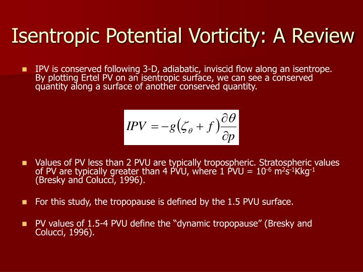 Isentropic Potential Vorticity: A Review