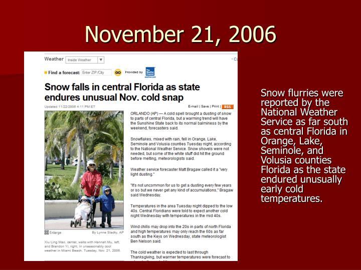 November 21, 2006