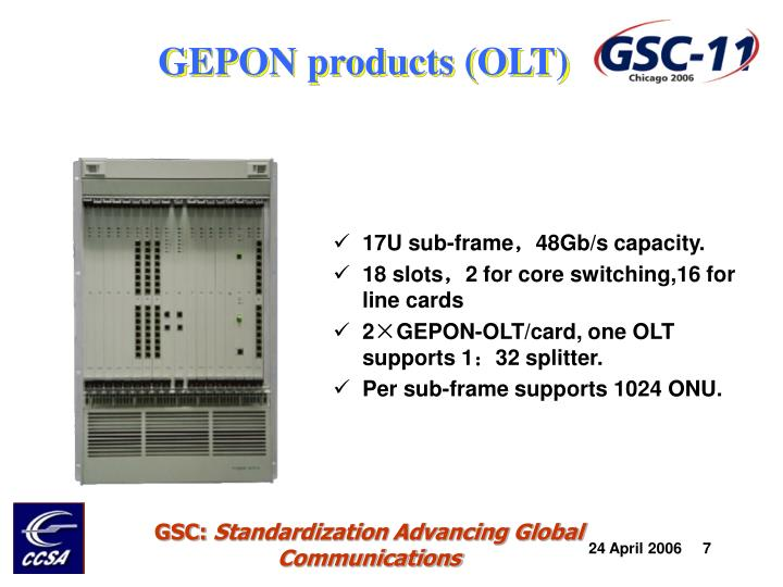 GEPON products (OLT)