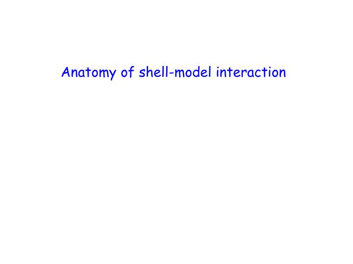 Anatomy of shell-model interaction