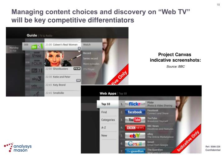 "Managing content choices and discovery on ""Web TV"" will be key competitive differentiators"