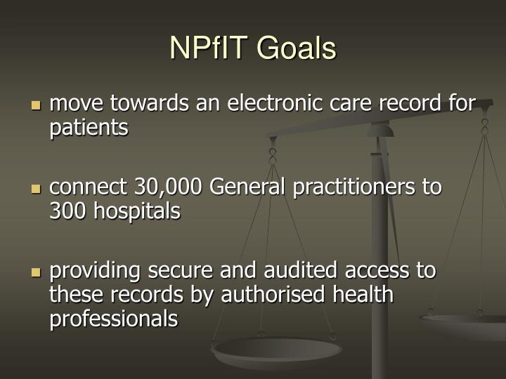 NPfIT Goals