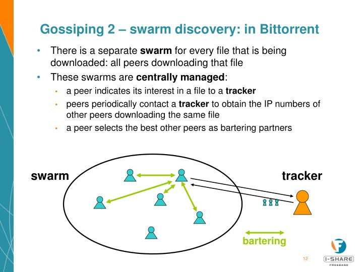 Gossiping 2 – swarm discovery: in Bittorrent