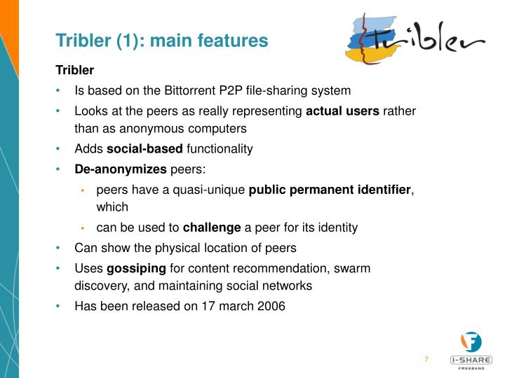 Tribler (1): main features